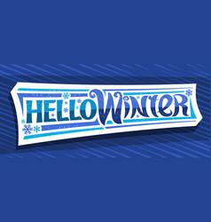 banner hello winter vector image