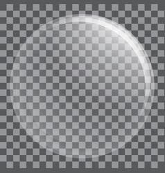 Big water bubble icon realistic style vector
