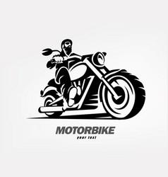 biker motorcycle grunge silhouette retro emblem vector image