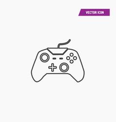 Black line video game remote controller icon vector