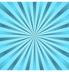 Blue rays poster star burst vector image