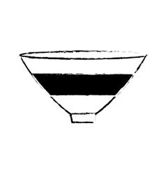 bowl big cooking kitchen empty vector image