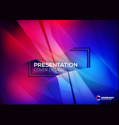 Business layout template presentation cover vector