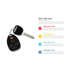 car keys infographics template with 4 points of vector image