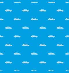 car pattern seamless blue vector image