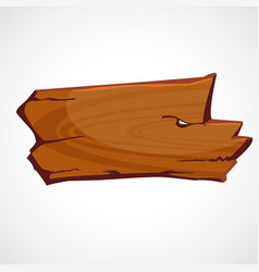 cartoon brown wooden sign vector image