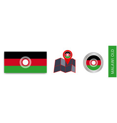 Collection malawi national flags isolated vector