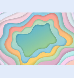 Colored paper cut abstract vector