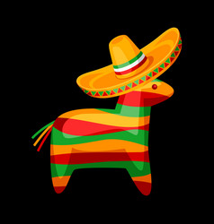 Colorful pinata in mexican vector