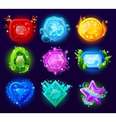 Computer Game Magic Gems Set vector image