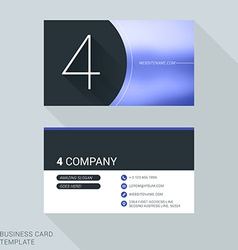 Creative business card template number four flat vector