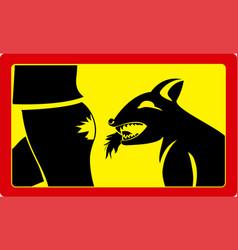 Danger sign beware dog vector