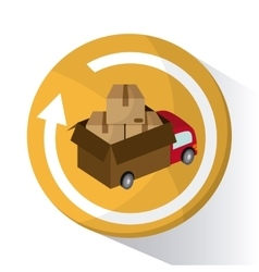 Delivery design shipping logistic vector image