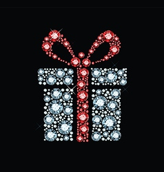 Diamond gift box vector