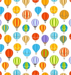 Different colorful air balloons seamless vector image