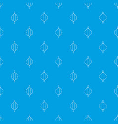 dough rolling pin pattern seamless blue vector image
