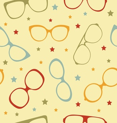 Eyeglasses pattern vector image