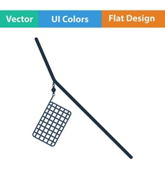 Flat design icon of fishing feeder net vector image