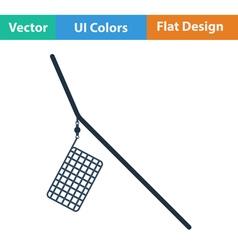 Flat design icon of fishing feeder net vector