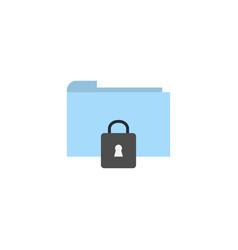 flat folder security technology icon vector image