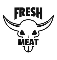 fresh meat logo simple style vector image