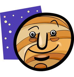 funny jupiter planet cartoon vector image