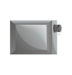 garage lock icon in flat design vector image