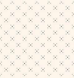 geometric seamless pattern with tiny diamond vector image