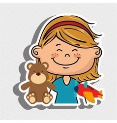 girl party hat cartoon vector image