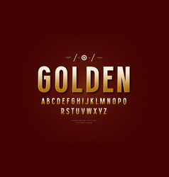 golden colored sans serif font vector image