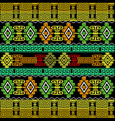 greek borders ornate seamless pattern vector image