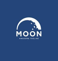 half moon logo design template inspiration vector image