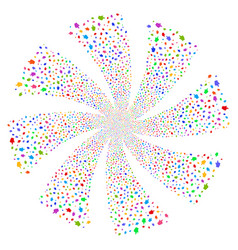 Index finger fireworks swirl flower vector