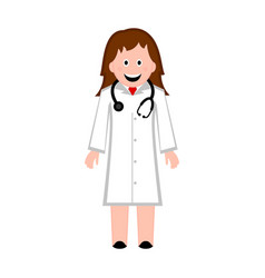 isolated female doctor icon vector image