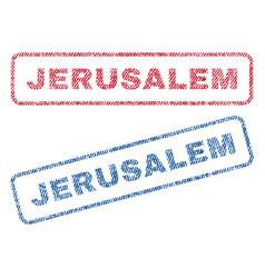 Jerusalem textile stamps vector