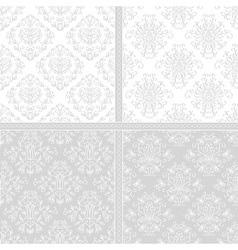 Light seamless damask pattern vector