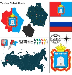 Map of Oblast of Tambov vector