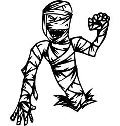 Mummy - halloween set vector