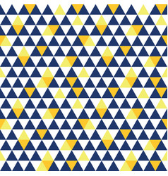 Navy blue and yellow triangle texture vector