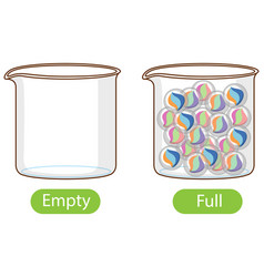 Opposite words with empty and full vector