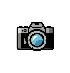 Photo camera icon isolated on vector