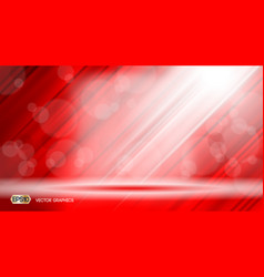 Red glamorous fabric waves sparkling effects vector