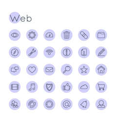 Round Web Icons vector image