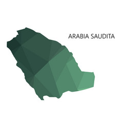 Saudi arabia map on white background vector