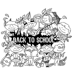 school3 vector image