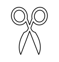 Scissors silhouette isolated icon vector