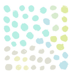 set grunge paint rounds vector image