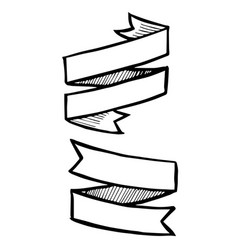 set grunge ribbon banners vector image
