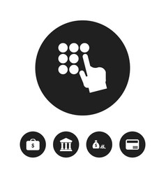 set of 5 editable finance icons includes symbols vector image