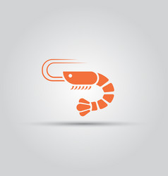 shrimp isolated icon seafood sign vector image